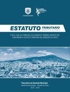 ESTATUTO TRIBUTARIO DEL MUNICIPIO DE PASTO 2014