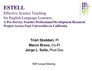 ESTELL Effective Science Teaching