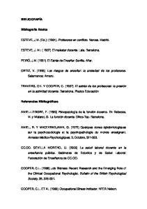 ESTEVE, J M. (Ed.): (1984). Profesores en conflicto. Narcea. Madrid