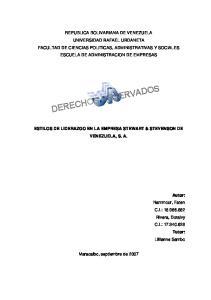 ESTILOS DE LIDERAZGO EN LA EMPRESA STEWART & STEVENSON DE VENEZUELA, S. A