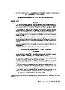 ESTIMACION DE LA EROSION HIDRICA EN LA PROVINCIA DE LA PAMPA, ARGENTINA