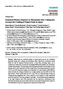 Estimated Dietary Exposure to Mycotoxins after Taking into Account the Cooking of Staple Foods in Japan
