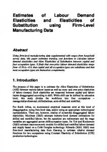 Estimates of Labour Demand Elasticities and Elasticities of Substitution using Firm-Level Manufacturing Data
