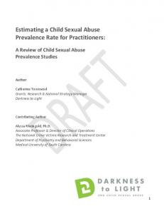 Estimating a Child Sexual Abuse Prevalence Rate for Practitioners: