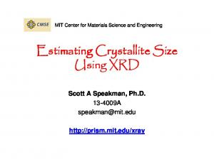 Estimating Crystallite Size Using XRD