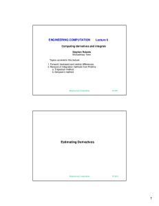 Estimating Derivatives