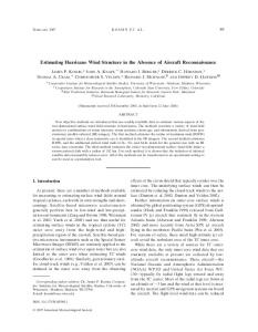 Estimating Hurricane Wind Structure in the Absence of Aircraft Reconnaissance