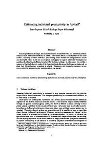 Estimating individual productivity in football