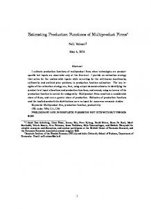 Estimating Production Functions of Multiproduct Firms