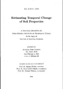 Estimating Temporal Change of Soil Properties