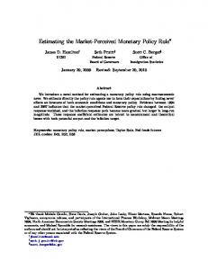 Estimating the Market-Perceived Monetary Policy Rule