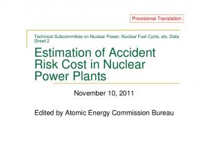 Estimation of Accident Risk Cost in Nuclear Power Plants