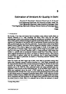 Estimation of Ambient Air Quality in Delhi