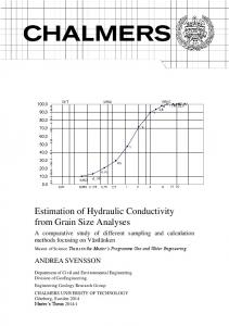 Estimation of Hydraulic Conductivity from Grain Size Analyses
