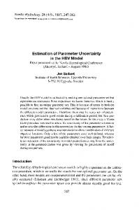 Estimation of Parameter Uncertainty in the HBV Model