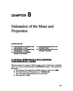 Estimation of the Mean and Proportion