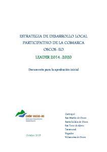 ESTRATEGIA DE DESARROLLO LOCAL PARTICIPATIVO DE LA COMARCA OSCOS-EO LEADER