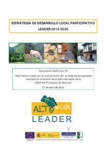 ESTRATEGIA DE DESARROLLO LOCAL PARTICIPATIVO LEADER