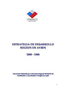 ESTRATEGIA DE DESARROLLO REGION DE AYSEN