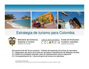 Estrategia de turismo para Colombia