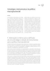 Estratégia e instrumentos da política macroprudencial