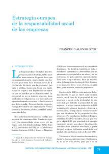 Estrategia europea de la responsabilidad social de las empresas