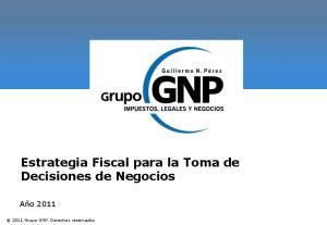 Estrategia Fiscal para la Toma de Decisiones de Negocios
