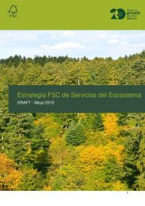 Estrategia FSC de Servicios del Ecosistema