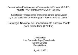 Estrategia Nacional de Financiamiento Forestal Viable para Costa Rica (ENFFV)