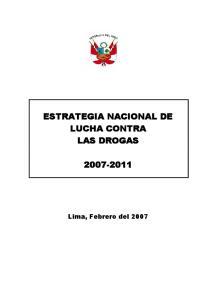 ESTRATEGIA NACIONAL DE LUCHA CONTRA LAS DROGAS