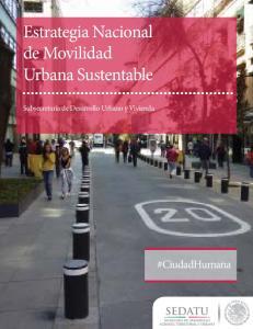 Estrategia Nacional de Movilidad Urbana Sustentable