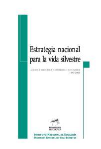 Estrategia nacional para la vida silvestre