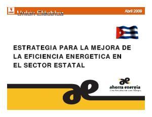 ESTRATEGIA PARA LA MEJORA DE LA EFICIENCIA ENERGETICA EN EL SECTOR ESTATAL