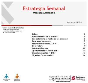 Estrategia Semanal Mercado Accionario