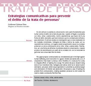 Estrategias comunicativas para prevenir el delito de la trata de personas 1
