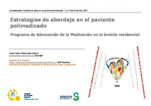 Estrategias de abordaje en el paciente polimedicado