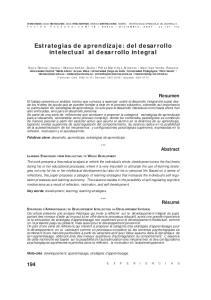 Estrategias de aprendizaje: del desarrollo intelectual al desarrollo integral