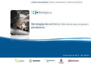 Estrategias de control de Listeria monocytogenes persistente
