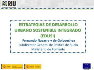 ESTRATEGIAS DE DESARROLLO URBANO SOSTENIBLE INTEGRADO (EDUSI)