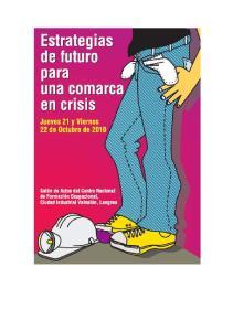 ESTRATEGIAS DE FUTURO PARA UNA COMARCA EN CRISIS. INDICE