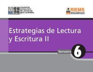 ESTRATEGIAS DE LECTURA Y ESCRITURA II