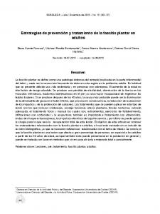 Estrategias de prevención y tratamiento de la fascitis plantar en adultos