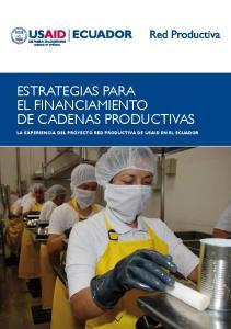 ESTRATEGIAS PARA EL FINANCIAMIENTO DE CADENAS PRODUCTIVAS