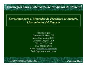 Estrategias para el Mercadeo de Productos de Madera 1