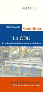 ESTRUCTURA DE LA CDU. 1 Tablas principales