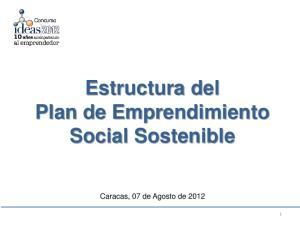 Estructura del Plan de Emprendimiento Social Sostenible