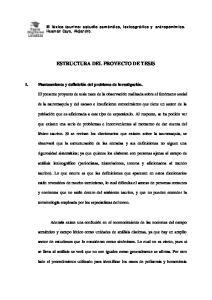 ESTRUCTURA DEL PROYECTO DE TESIS