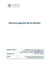 Estructura general de los silicatos