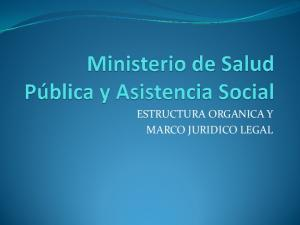 ESTRUCTURA ORGANICA Y MARCO JURIDICO LEGAL