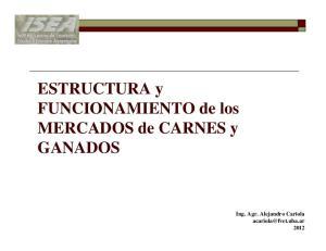 ESTRUCTURA y FUNCIONAMIENTO de los MERCADOS de CARNES y GANADOS
